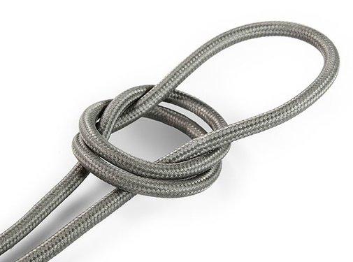 Kynda Light Fabric Cord Grey - round, solid