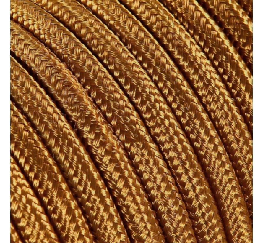 Strijkijzersnoer Koper - rond, effen stof