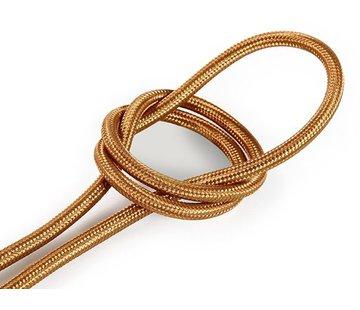 Kynda Light Textilkabel Kupfer - rund, einfarbiger Stoff