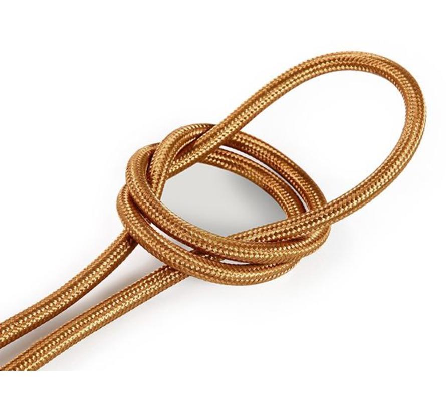 Fabric Cord Copper - round, solid