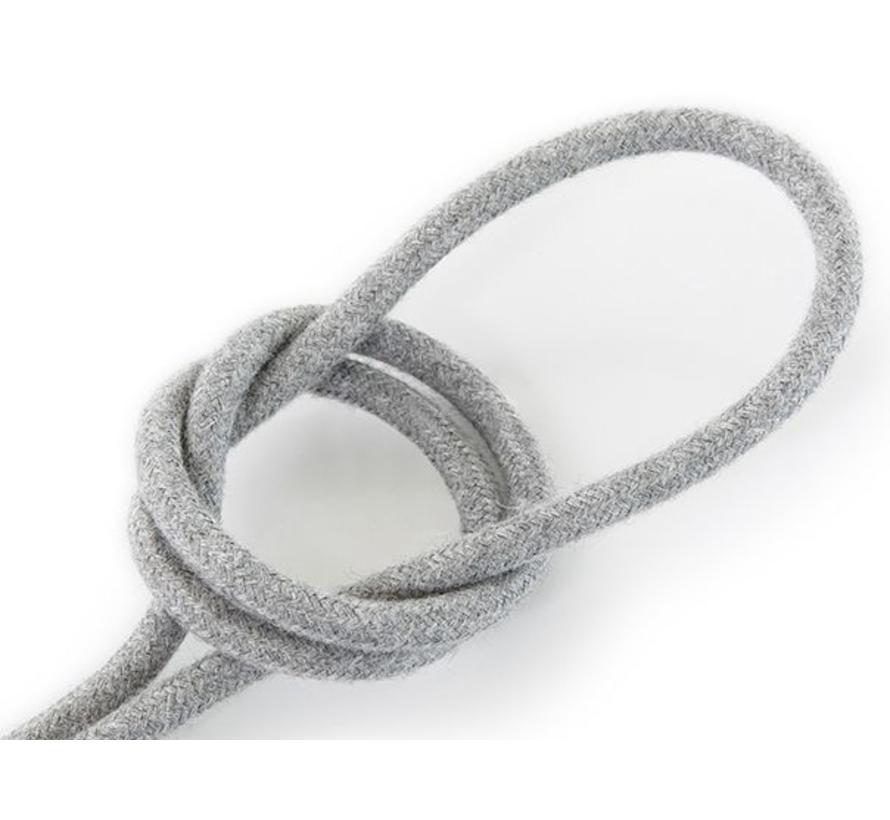 Textilkabel Grau - rund, leinen
