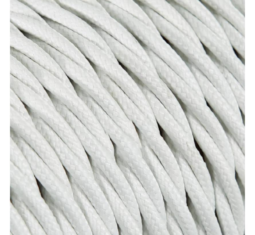 Strijkijzersnoer Wit - gedraaid, effen stof
