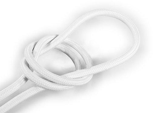 Kynda Light Fabric Cord White - round, solid