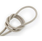 Kynda Light Fabric Cord Sand - round, linen