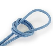 Kynda Light Fabric Cord Greyish Blue - round, linen