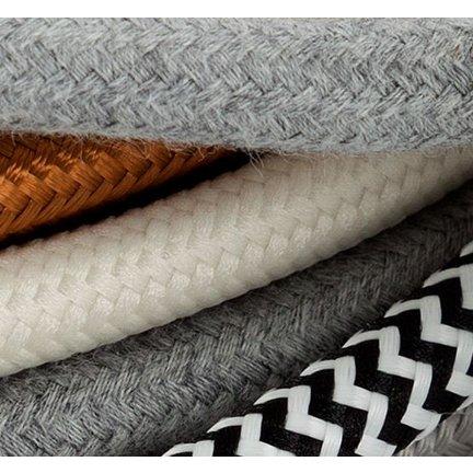 Einfarbige, gedrehte Textilkabel und Leinenkabel