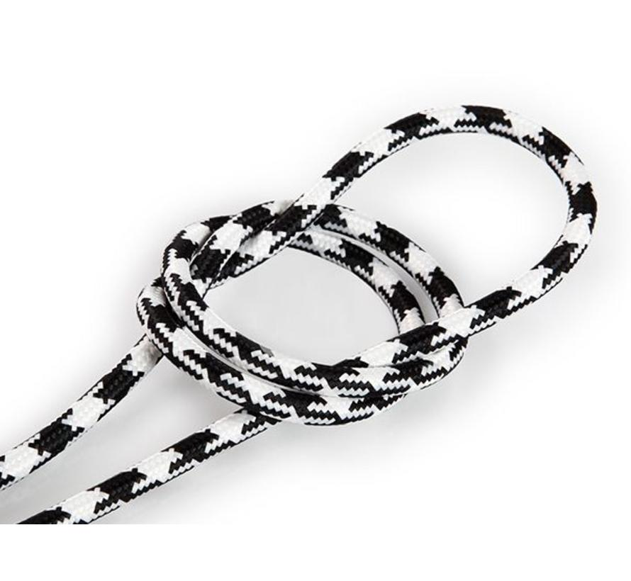 Fabric Cord Black & White - round, solid