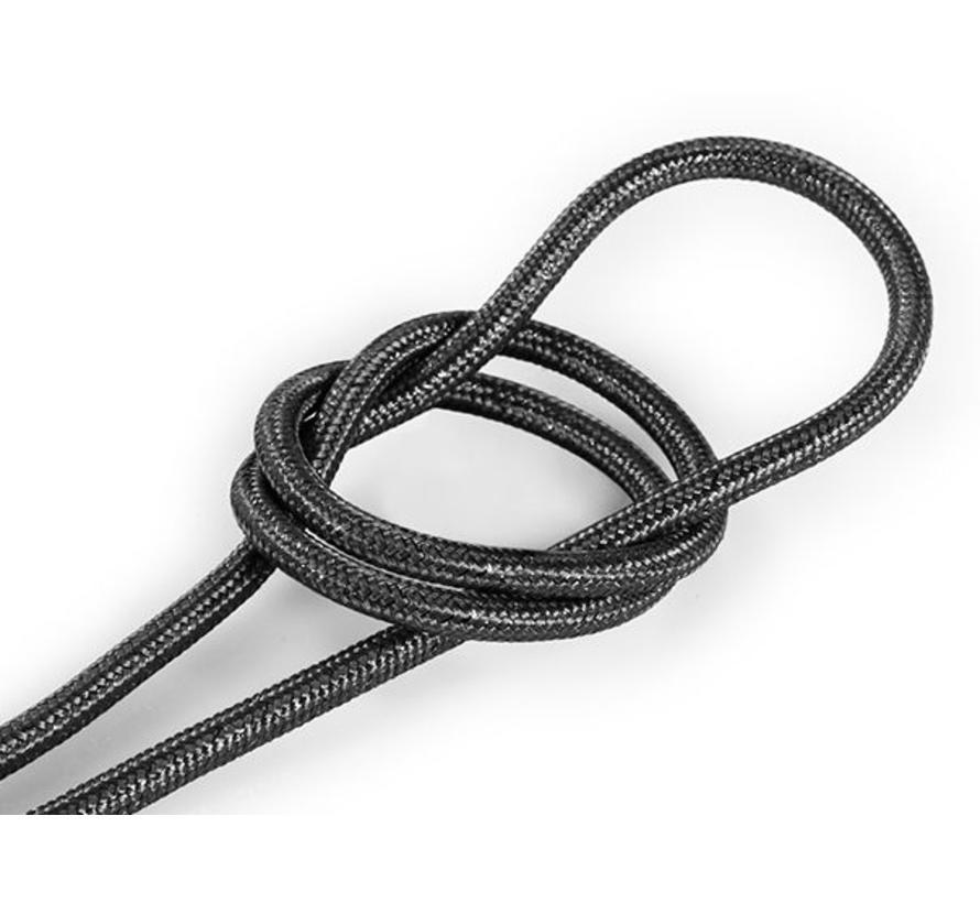 Fabric Cord Grey (glitter) - round, solid