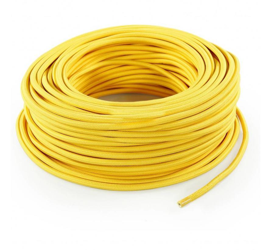 Strijkijzersnoer Geel - rond, effen stof