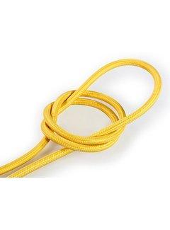 Kynda Light Textilkabel Gelb - rund, einfarbiger Stoff
