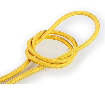 Kynda Light Fabric Cord Yellow - round, solid