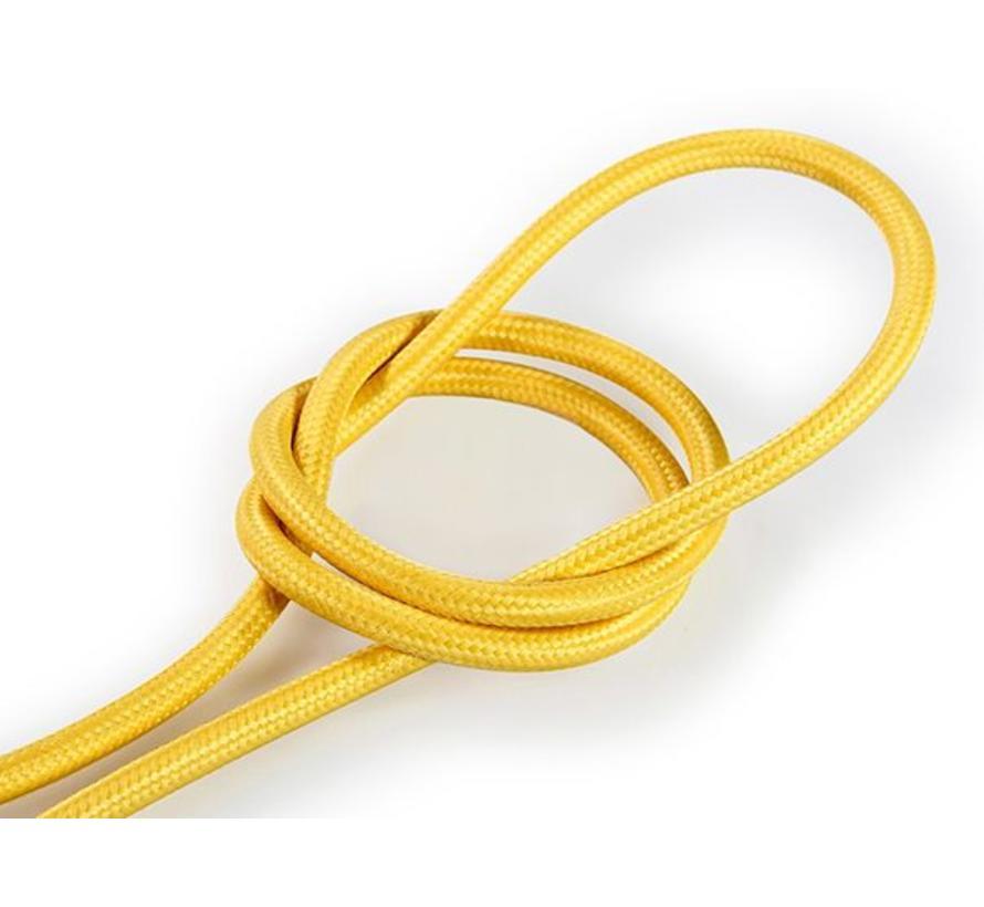 Textilkabel Gelb - rund, einfarbiger Stoff