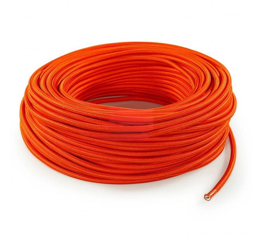 Textilkabel Orange - rund, einfarbiger Stoff