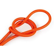 Kynda Light Fabric Cord Orange - round, solid