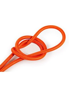 Kynda Light Textilkabel Orange - rund, einfarbiger Stoff