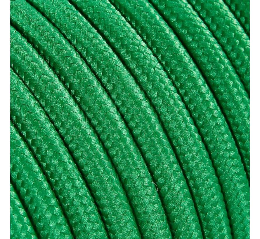 Fabric Cord Green - round, solid