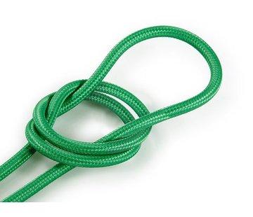 Kynda Light Textilkabel Grün - rund, einfarbiger Stoff