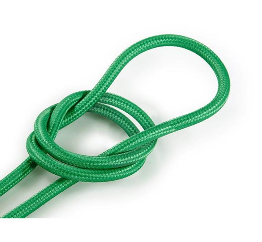 Textilkabel Grün - rund, einfarbiger Stoff