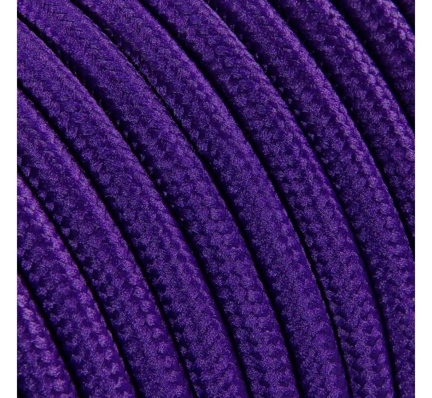 Textilkabel Lila - rund, einfarbiger Stoff
