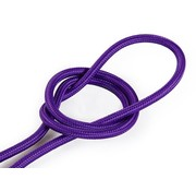 Kynda Light Fabric Cord Purple - round, solid