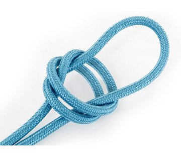 Kynda Light Textilkabel Aquamarinblau - rund, leinen