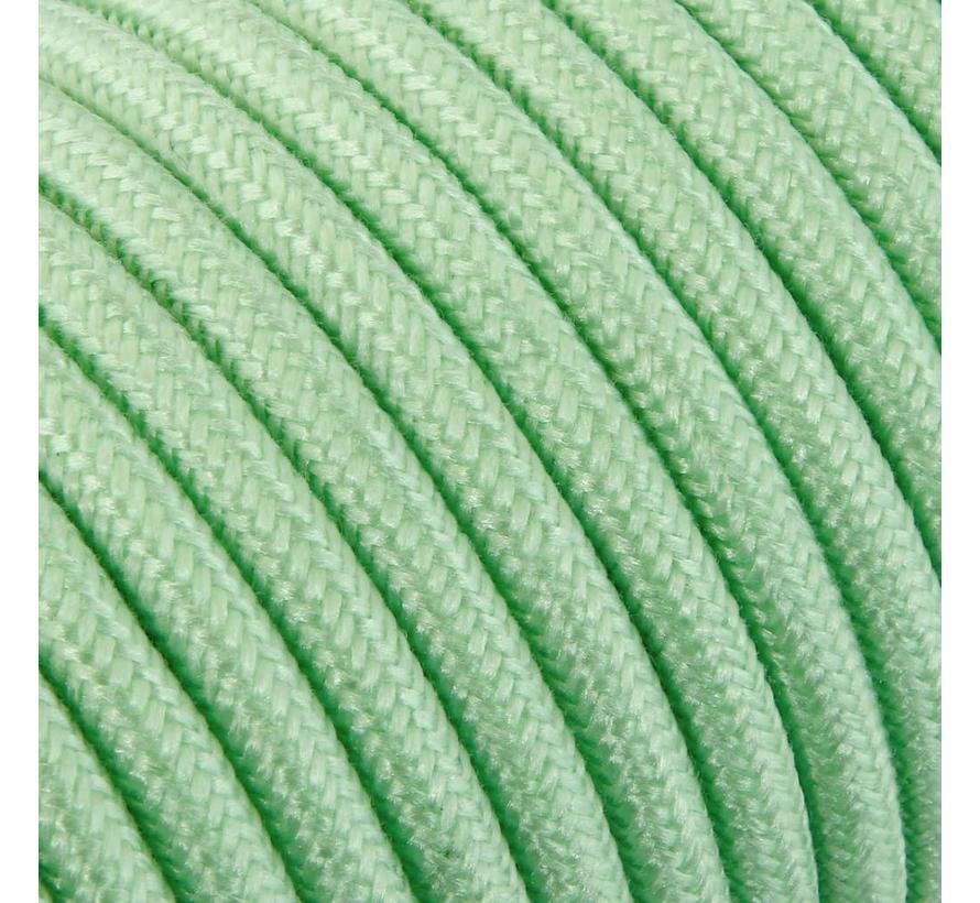 Textilkabel Hellgrün - rund, leinen