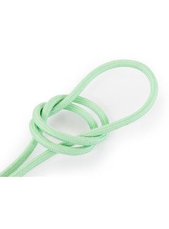 Kynda Light Fabric Cord Light Green - round, linen