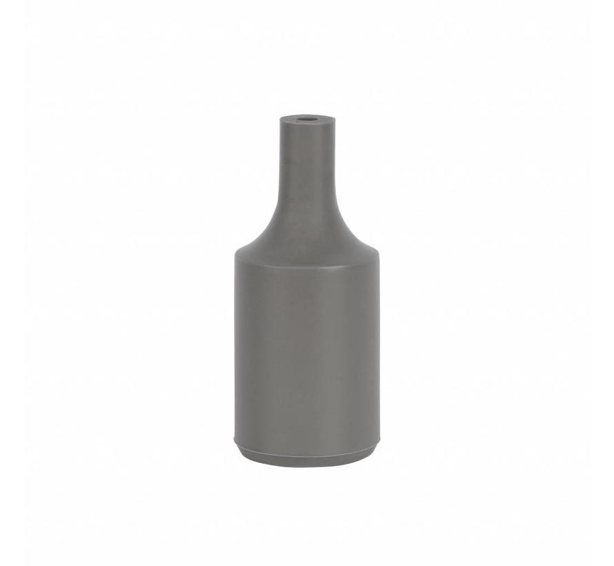 Fassung 'Kare' Silikon Grau - E27