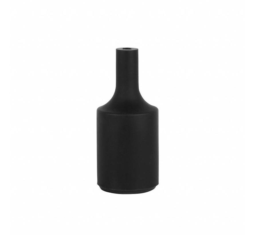 Siliconen fitting 'Kare' Zwart E27