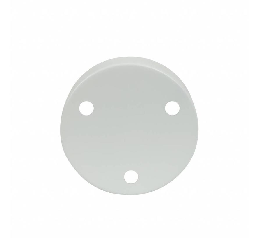 Metal Ceiling Rose 'Latham' white - 3 cords