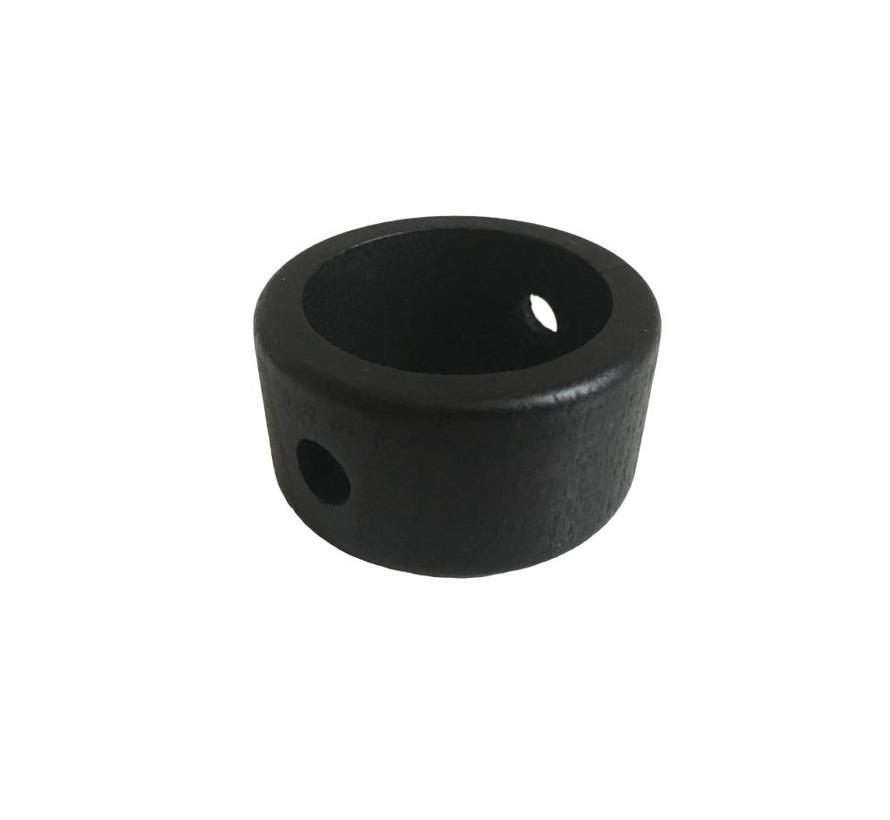 Kraal hout zwart ring