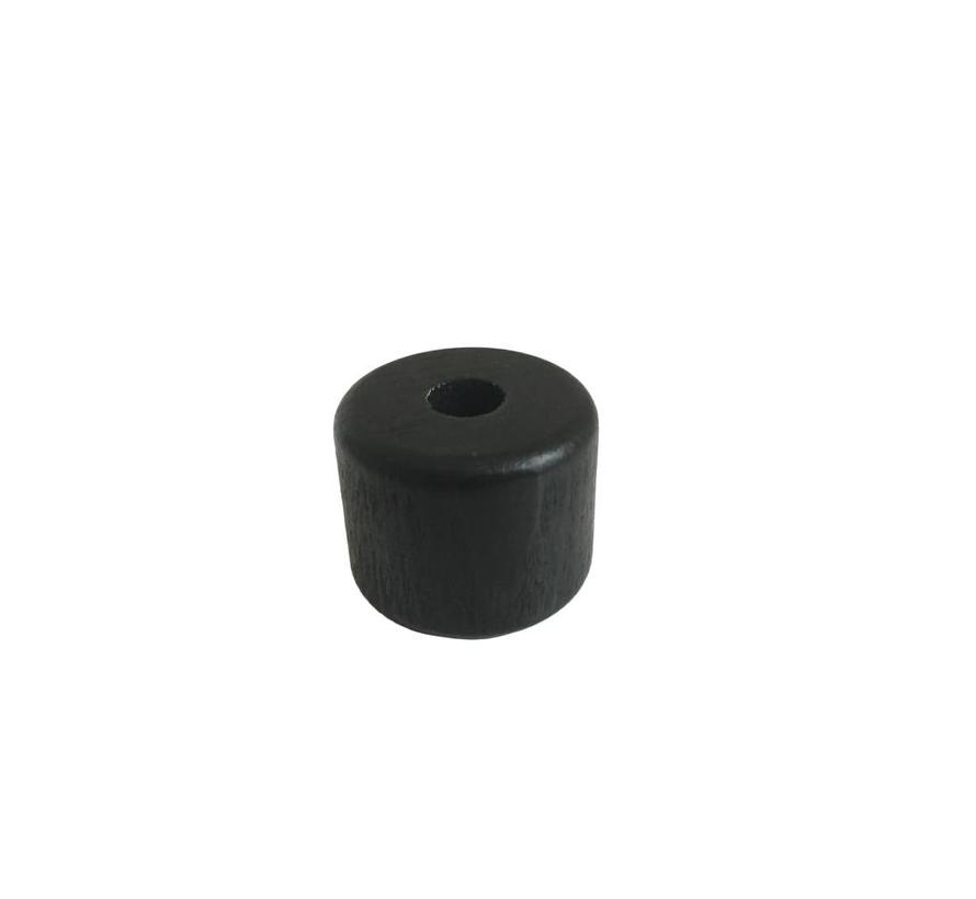 Pearl / Bead wood black | Cylinder, small