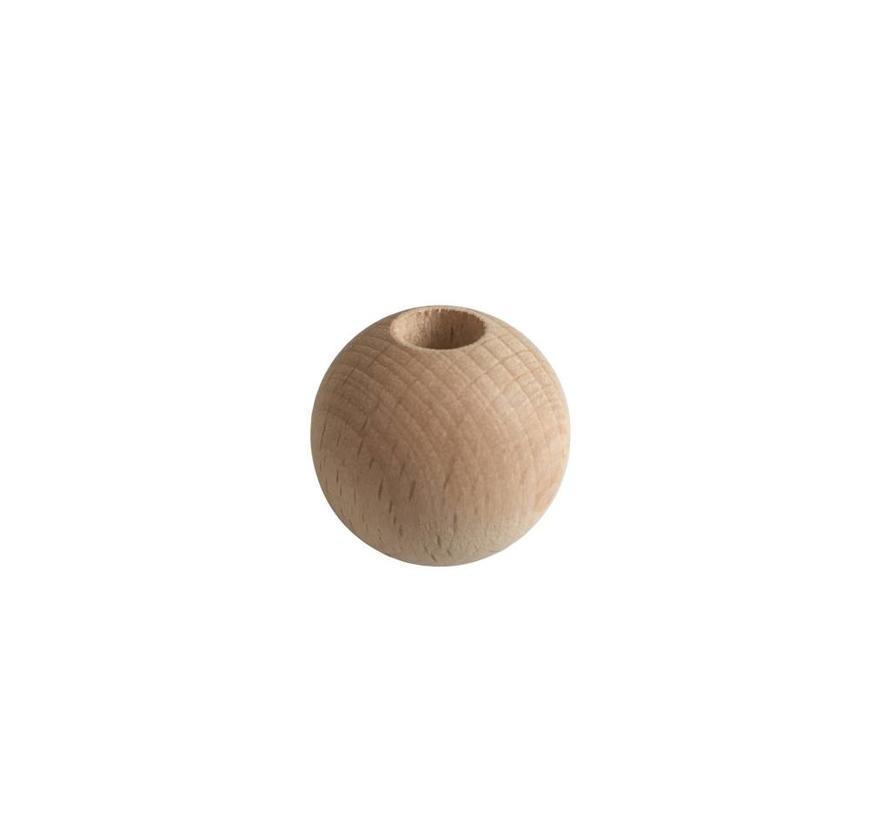 Holzperlen Natur | Rund, groß Ø35mm