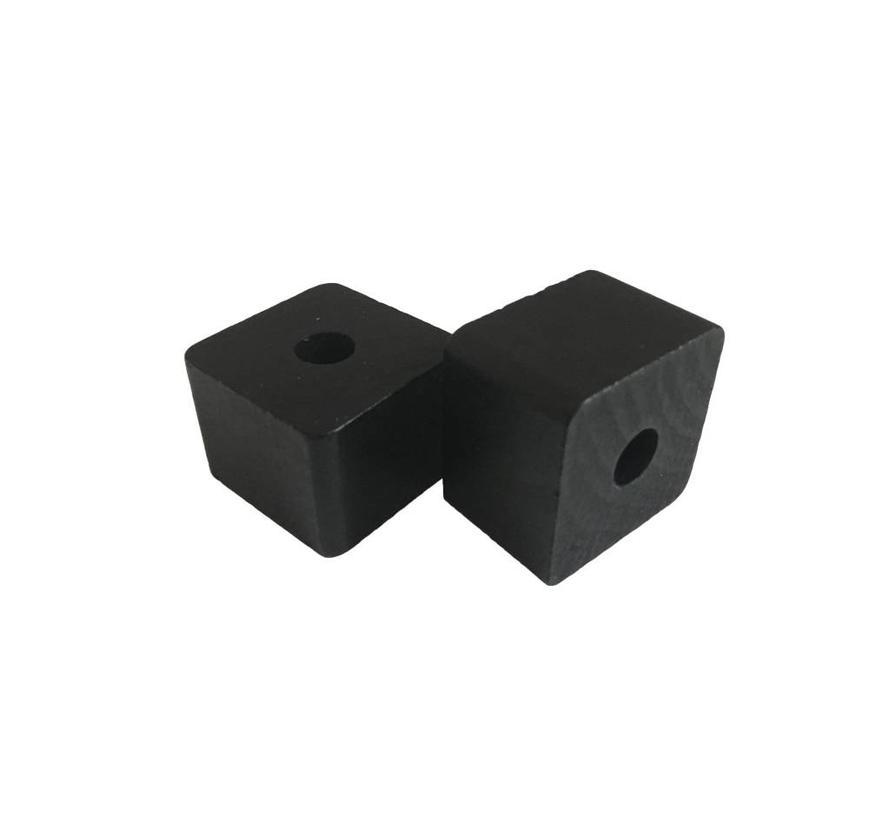 Holzperlen schwarz | Rechteck, klein