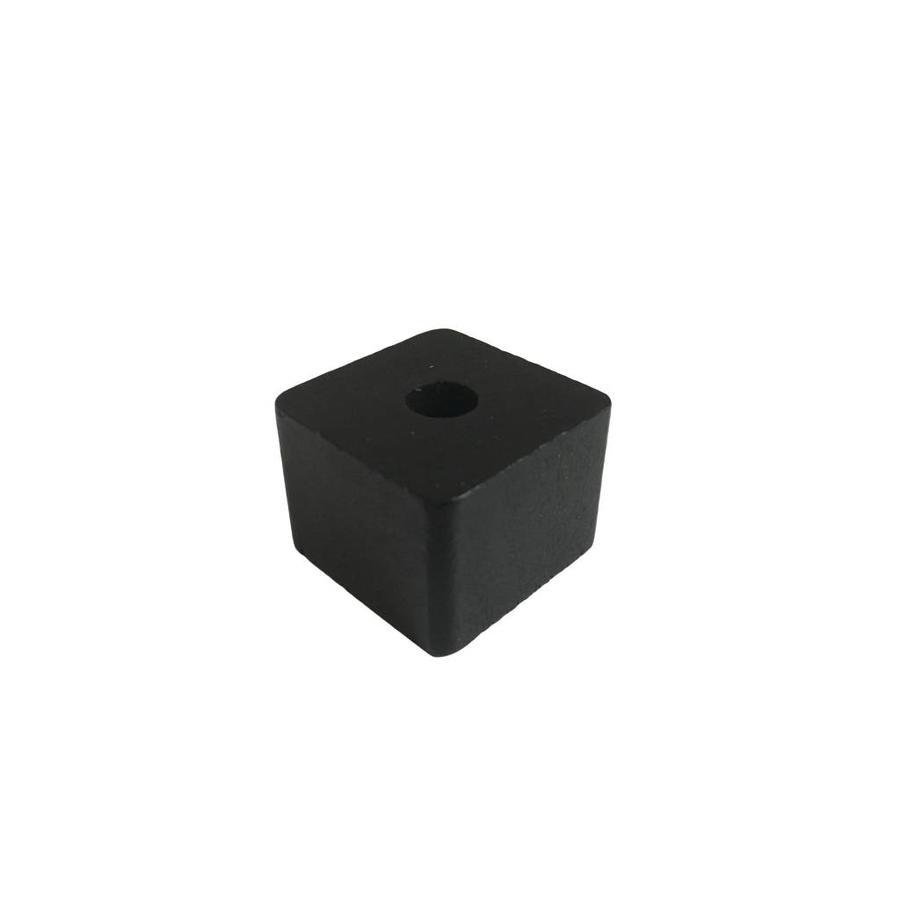 Kraal hout zwart rechthoek klein-1