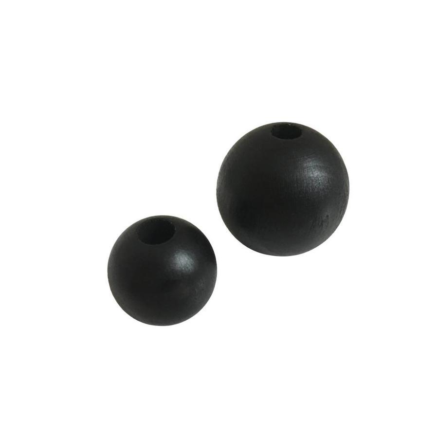Kraal hout zwart rond groot-2