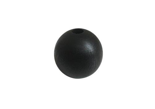 Pearl wood black sphere big