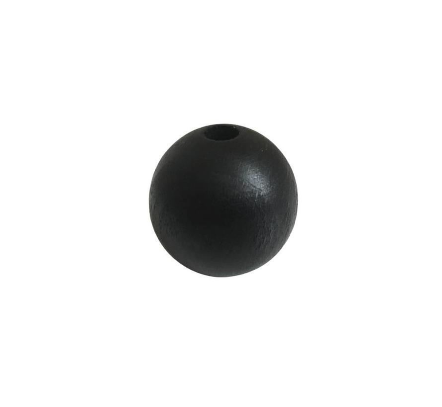 Pearl / Bead wood black | Sphere big, Ø35mm
