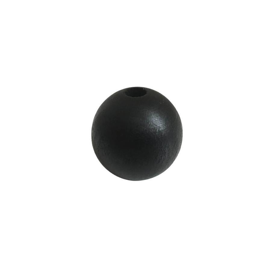 Kraal hout zwart rond groot-1