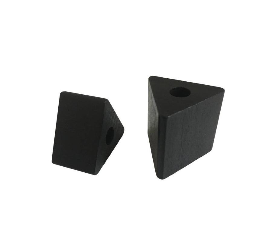 Kraal hout zwart driehoek groot