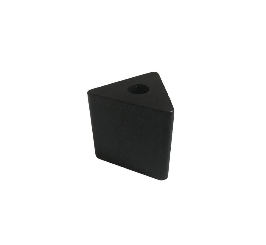 Pearl / Bead wood black | Triangle, big