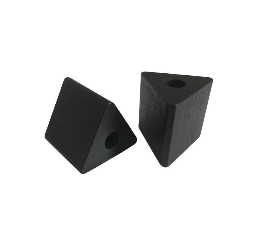 Kraal hout zwart | Driehoek, groot