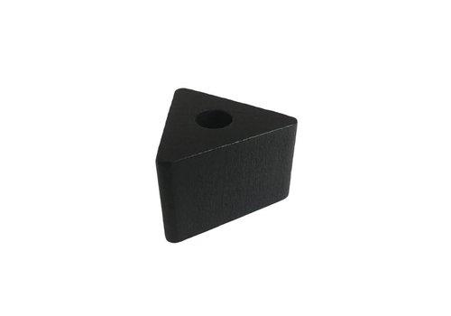 Kraal hout zwart driehoek klein