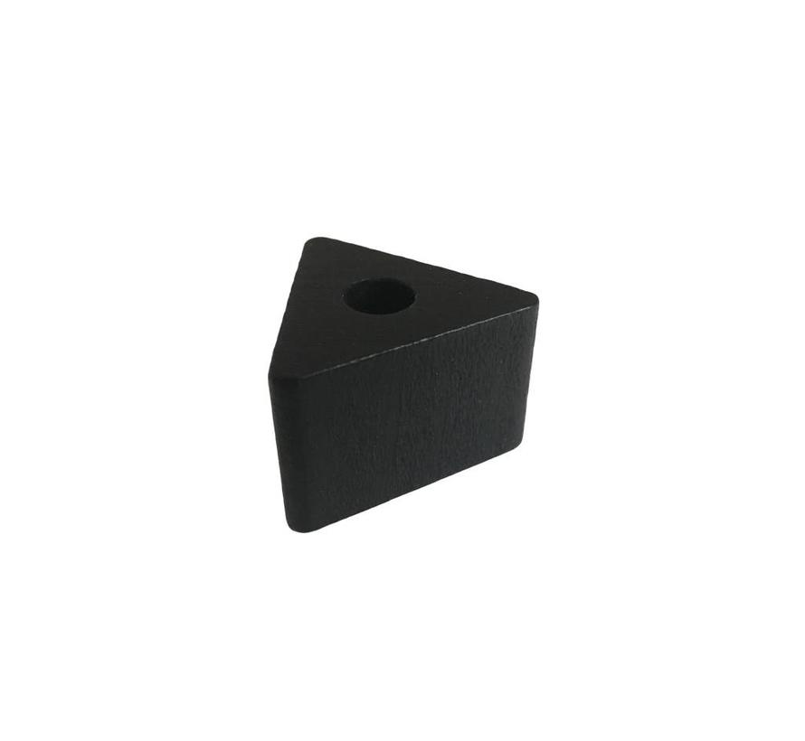 Pearl / Bead wood black | Triangle, small