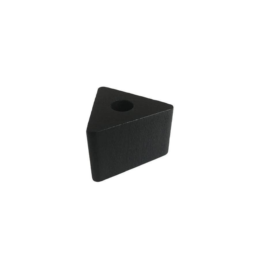 Kraal hout zwart driehoek klein-1