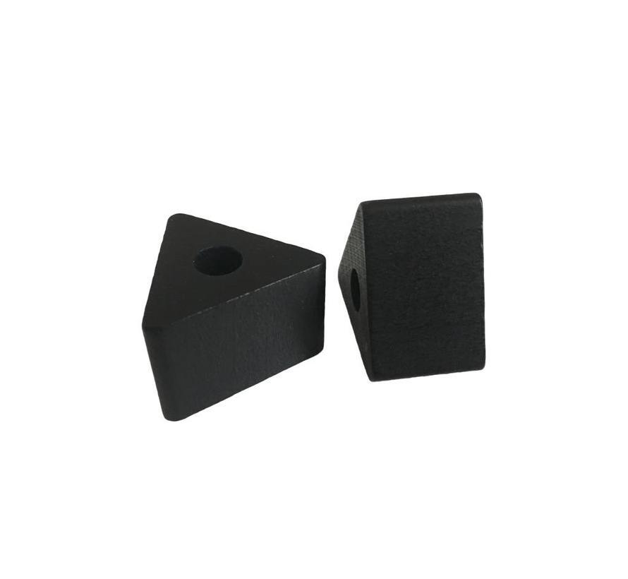 Kraal hout zwart | Driehoek, klein