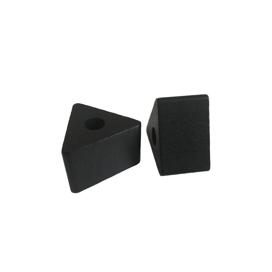 Kraal hout zwart driehoek klein-2