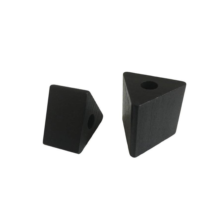 Kraal hout zwart driehoek klein-3
