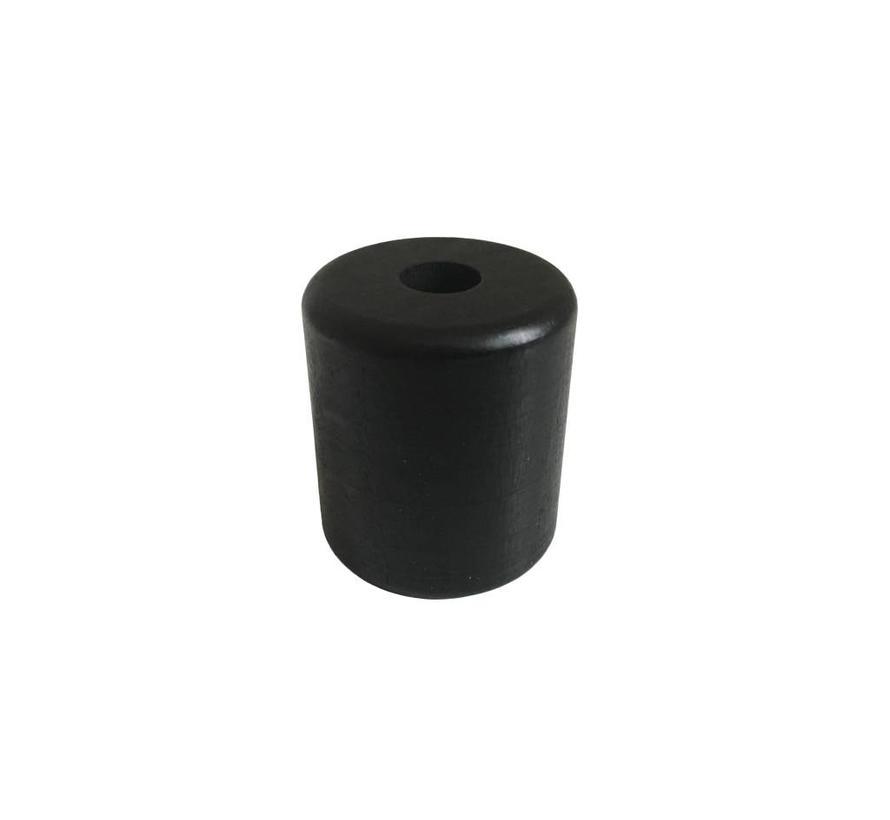 Pearl / Bead wood black | Cylinder, big