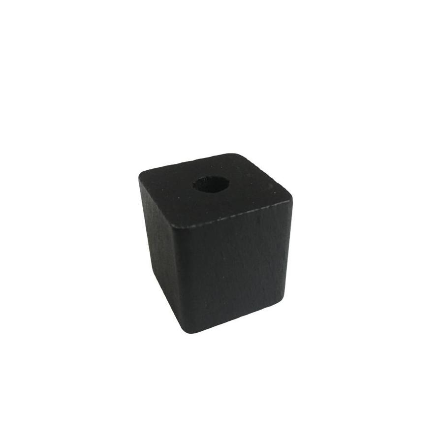 Kraal hout zwart rechthoek groot
